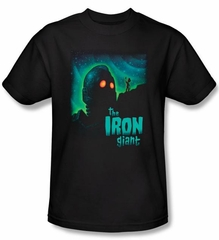 The Iron Giant T-Shirt Movie Look To The Stars Adult Black Tee Shirt