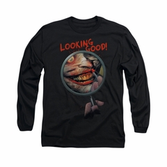 The Joker Shirt Looking Good Long Sleeve Black Tee T-Shirt