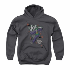 The Joker Youth Hoodie Big Step Charcoal Kids Hoody