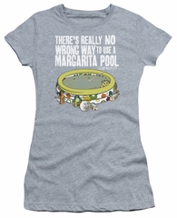 The Last Man On Earth Juniors Shirt Margarita Pool Athletic Heather T-Shirt