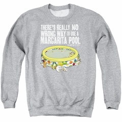 The Last Man On Earth Sweatshirt Margarita Pool Adult Athletic Heather Sweat Shirt