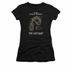 The Last Ship Shirt Juniors Mask Black T-Shirt