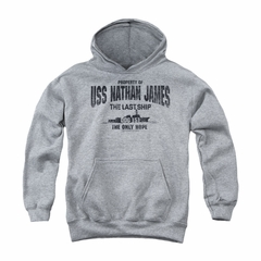The Last Ship Youth Hoodie Property Of Athletic Heather Kids Hoody