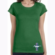 The Legend Lives Crest Bottom Print Ladies Shirts