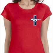 The Legend Lives Crest Pocket Print Ladies Ford Shirts
