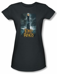 The Lord Of The Rings Juniors T-Shirt Eye Of Sauron Charcoal Tee Shirt
