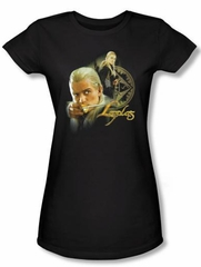 The Lord Of The Rings Juniors T-Shirt Legolas Black Tee Shirt