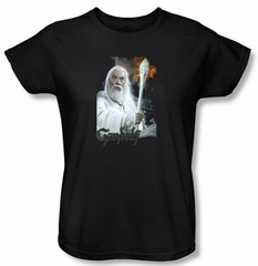 The Lord Of The Rings Ladies T-Shirt Gandalf Black Tee Shirt