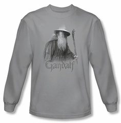 The Lord Of The Rings Long Sleeve T-Shirt Gandalf The Grey Silver Tee