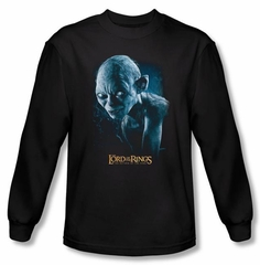 The Lord Of The Rings Long Sleeve T-Shirt Sneaking Gollum Black Shirt