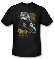 The Lord Of The Rings T-Shirt Gimli Adult Black Tee Shirt