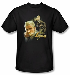 The Lord Of The Rings T-Shirt Legolas Adult Black Tee Shirt