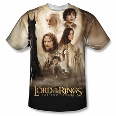 The Lord Of The Rings Towers Poster Sublimation Shirt