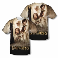 The Lord Of The Rings Towers Poster Sublimation Shirt Front/Back Print
