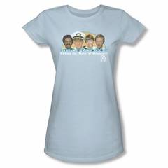 The Love Boat Shirt Wave Of Romance Juniors Light Blue T-Shirt
