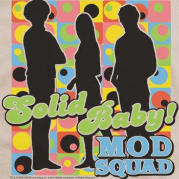 Short Sleeve Junior Sheer Tee Trevco Mod Squad-Solid Mod Pattern Cream44; Extra Large