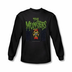 The Munsters Shirt 50 Years Logo Long Sleeve Black T-Shirt