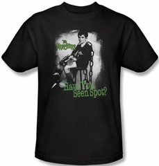 The Munsters T-shirt Have You Seen Spot Adult Black Tee Shirt