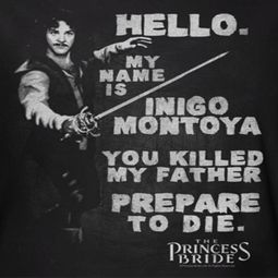 The Princess Bride Hello My Name Is Shirts