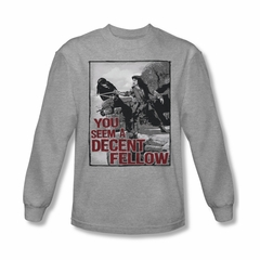 The Princess Bride Shirt Fellow Long Sleeve Athletic Heather Tee T-Shirt