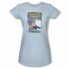 The Princess Bride Shirt Juniors Alt Poster Light Blue Tee T-Shirt