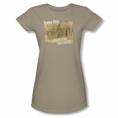 The Princess Bride Shirt Juniors Stormin' Da Castle Safari Green Tee T-Shirt