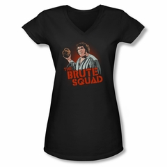 The Princess Bride Shirt Juniors V Neck Brute Squad Black Tee T-Shirt