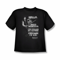 The Princess Bride Shirt Kids Hello My Name Is Black Tee T-Shirt
