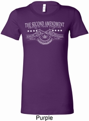 The Second Amendment Ladies Longer Length Shirt