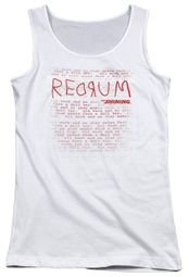 The Shining  Juniors Tank Top Redrum White Tanktop