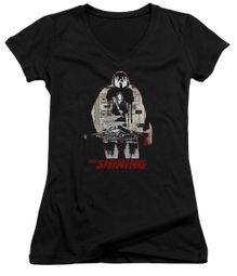 The Shining  Juniors V Neck Shirt Come Out Come Out Black T-Shirt