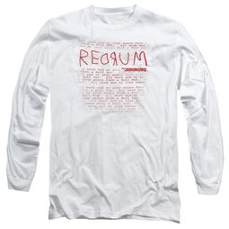 The Shining  Long Sleeve Shirt Redrum White Tee T-Shirt