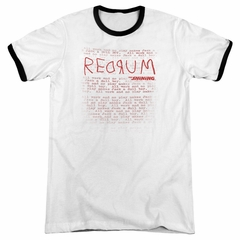 The Shining  Redrum White Ringer Shirt