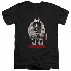 The Shining  Slim Fit V-Neck Shirt Come Out Come Out Black T-Shirt