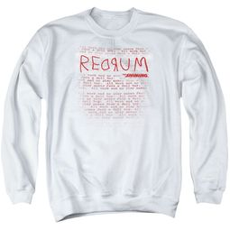 The Shining  Sweatshirt Redrum Hotel Adult Black Sweat Shirt