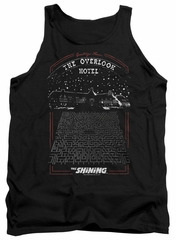 The Shining  Tank Top Overlook Hotel Black Tanktop