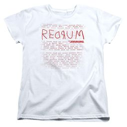 The Shining  Womens Shirt Redrum White T-Shirt