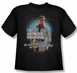 The Six Million Dollar Man Shirt Kids Technology Black Youth T-Shirt