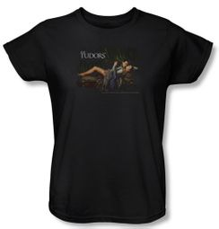 The Tudors Ladies Shirt The King And His Queen Black T-Shirt Tee
