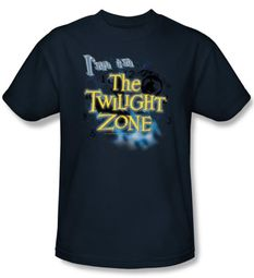 The Twilight Zone T-Shirt - I'm In The Twilight Adult Navy Blue