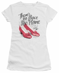 The Wizard Of Oz  Juniors Shirt Red Ruby Slippers White T-Shirt
