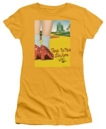 The Wizard Of Oz  Juniors Shirt The Way Home Gold T-Shirt