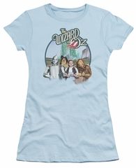 The Wizard Of Oz  Juniors Shirt We're Off To See Wizard Light Blue T-Shirt