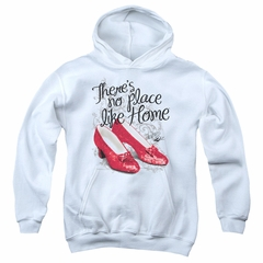 The Wizard Of Oz  Kids Hoodie Red Ruby Slippers White Youth Hoody