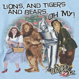 The Wizard Of Oz Lions and Tigers and Bears Oh My! Shirts
