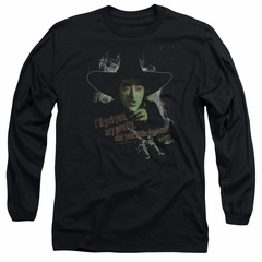 The Wizard Of Oz  Long Sleeve Shirt The Wicked Witch of the West Black Tee T-Shirt