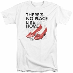 The Wizard Of Oz Shirt There's No Place Like Home Tall White T-Shirt
