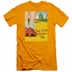 The Wizard Of Oz  Slim Fit Shirt The Way Home Gold T-Shirt