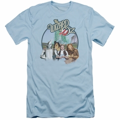The Wizard Of Oz  Slim Fit Shirt We're Off To See Wizard Light Blue T-Shirt