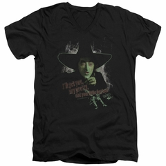 The Wizard Of Oz  Slim Fit V-Neck Shirt The Wicked Witch of the West Black T-Shirt